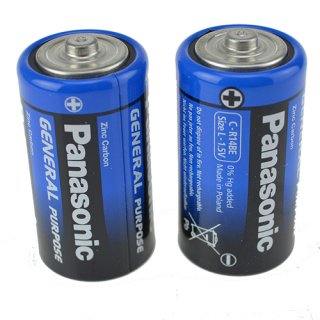 Batterie Panasonic Plus (2) R14 Babyzellen-Blister