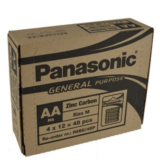 Batterie Panasonic Plus (4) R 6 AA Mignon-Blister