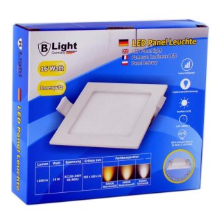 LED Unterputz Panel - 16 Watt - Quadrat (Warmweiß)